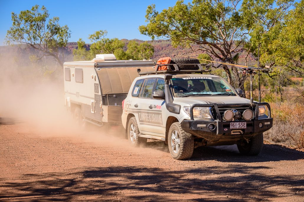 LowRange Landscape Outback Discovery Australia Toyota 4x4 4WD Landcruiser GXL Hilux Camper Trailer
