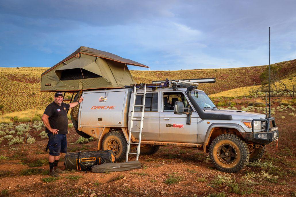 Outback Camp Ernie Gleno LowRange Filming Camping 4WD Hilux Landscape 4x4 GXL Camera Toyota Discovery Landcruiser Kenno Australia