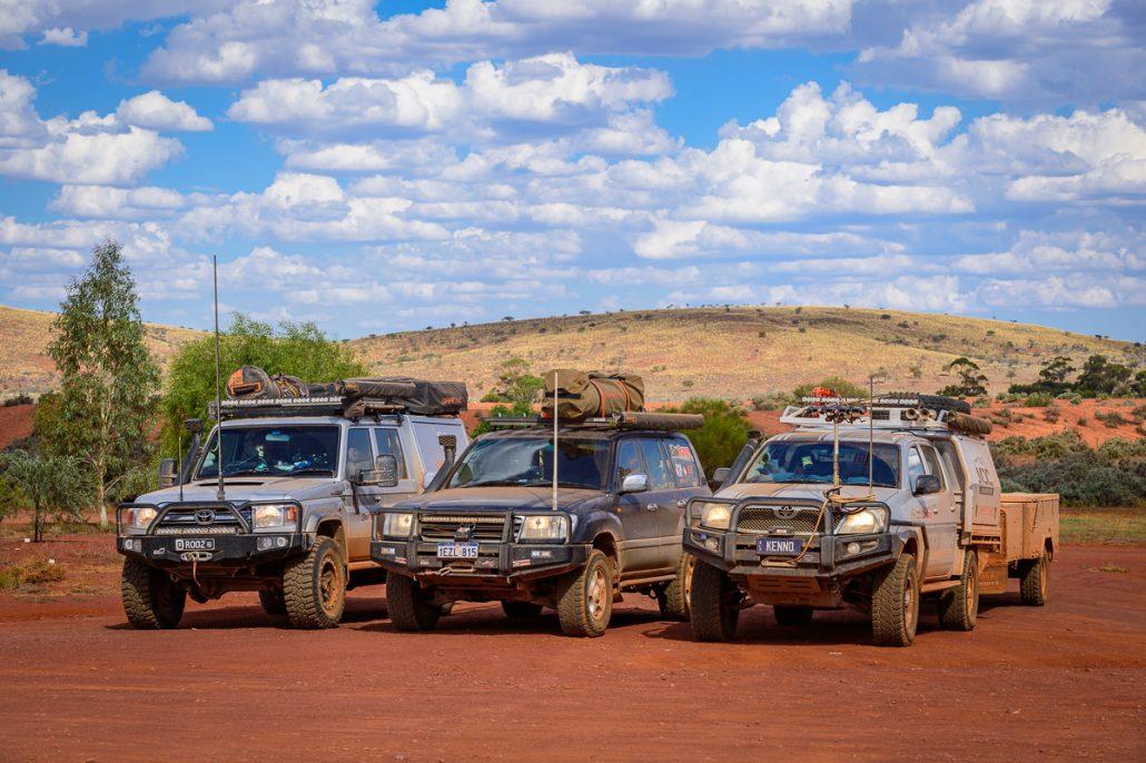 Outback Landcruiser Kenno Toyota Hilux 4WD GXL 4x4 LowRange Filming Gleno Camera Discovery Camp Camping Landscape Australia Ernie