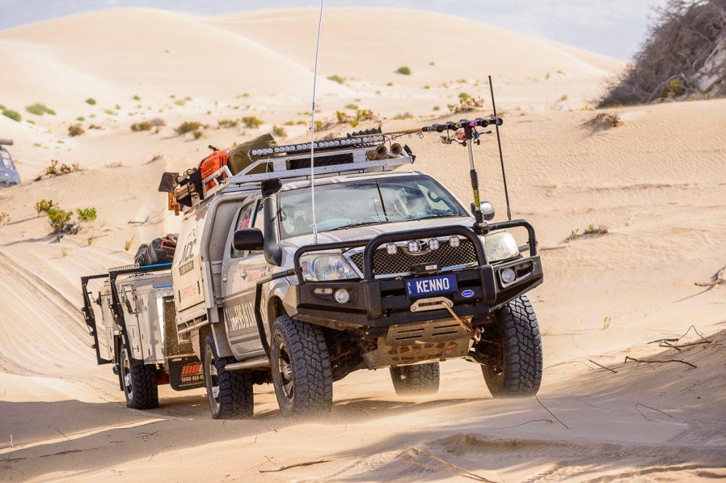 Filming Discovery Kenno Gleno 4WD Hilux Landscape Camping Toyota Outback GXL 4x4 Camp LowRange Australia Camera Landcruiser Ernie Coast Ocean Beach